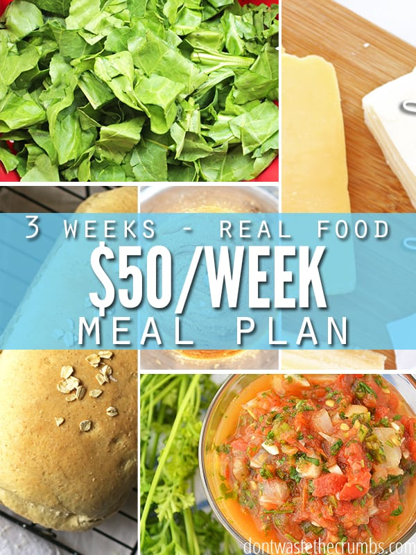 This particular month, we only had $50 per week, to spend for the next 3 weeks of meals! Read how we did three weeks of real food cheap meals, for $50 a week!! ::Dontwastethecrumbs.com