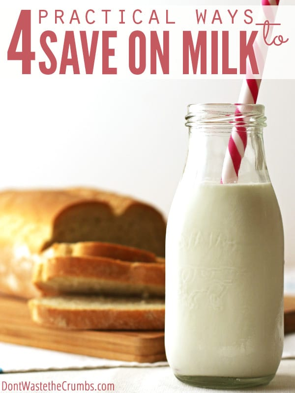Have you noticed the price of milk going up? I'm fighting back with these 4 tips, but also considering other options too, like homemade coconut milk and homemade rice milk. :: DontWastetheCrumbs.com
