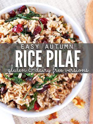 Recipe:  Simple Autumn Rice Pilaf