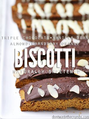 3 Deliciously Simple Einkorn Biscotti Recipes (naturally sweetened)