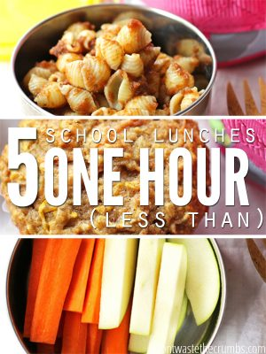 Five School Lunches in Less Than an Hour (free printable)