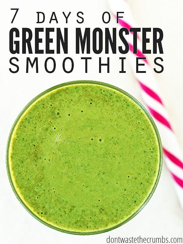 Take this healthy challenge to boost your nutrition! This simple post outlines multiple variations of smoothies that you can easily make to help improve your diet - and to help develop healthy habits! Take the 7 day green monster smoothie challenge! ::Dontwastethecrumbs.com