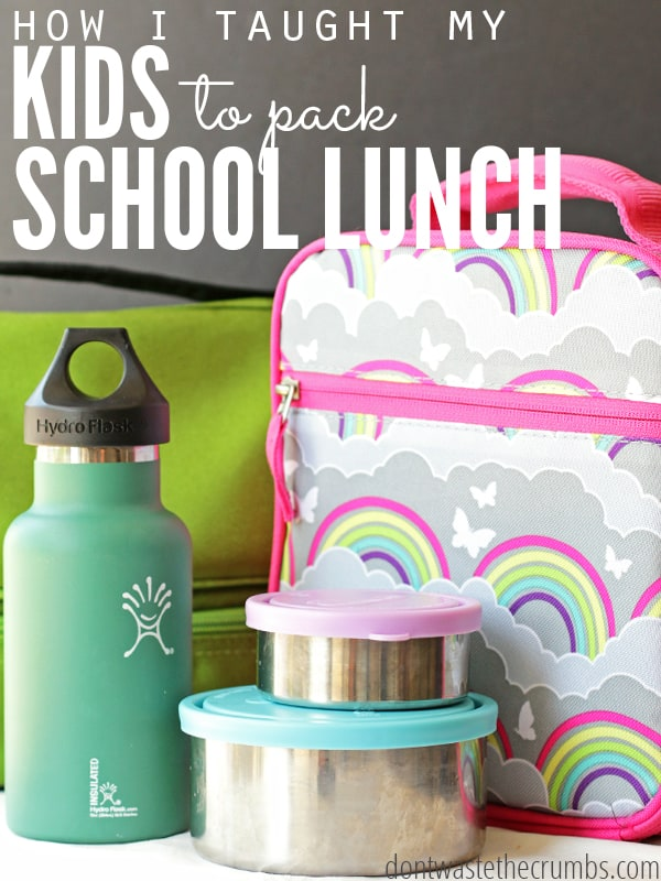 I taught my kids to make their own school lunch and they love it! These 5 simple keys are what makes it work, plus it teaches them independence, makes my life a bit easier and takes the stress out of school lunch!! :: DontWastetheCrumbs.com