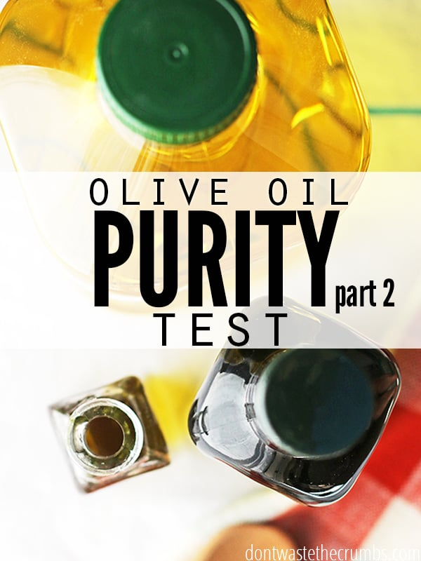 Do you trust the olive oil fridge test? Take part as I hash out the details to whether this test is valid or not. ::Dontwastethecrumbs.com