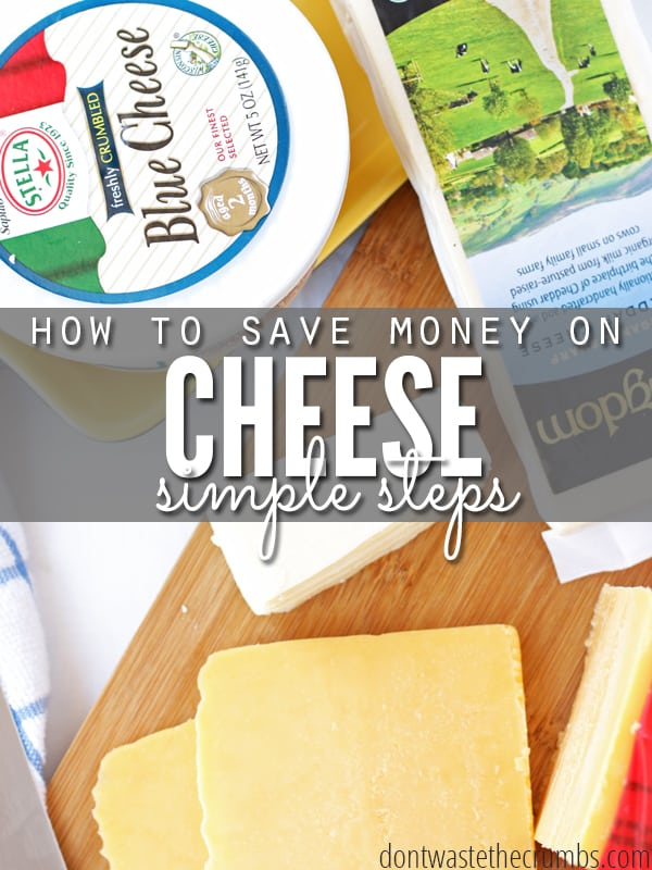 Money is tight, but these 8 tips on saving money on cheese make it a bit easier. And it's so much more than just buying a brick and shredding it yourself! :: DontWastetheCrumbs.com