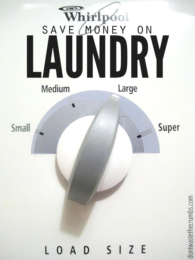 Believe it or not, you can save money on laundry! This down to earth post contains a few simple tips to help you manage household utility expenses by adjusting your laundry routine!