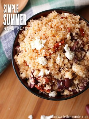 Simple Meal Plan For July