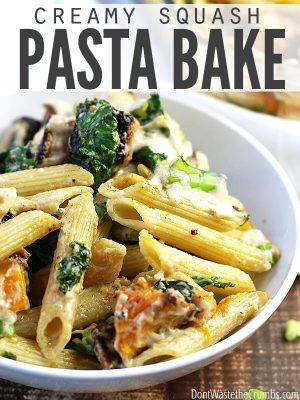Comfort Food: Easy Creamy Squash Pasta Bake