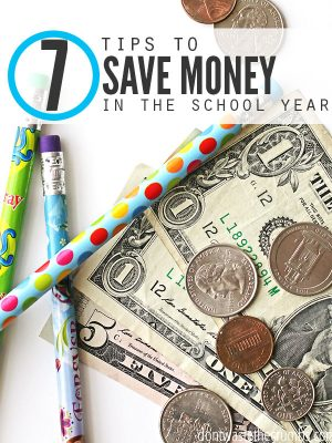 7 Tips Save Money School Year - Cover