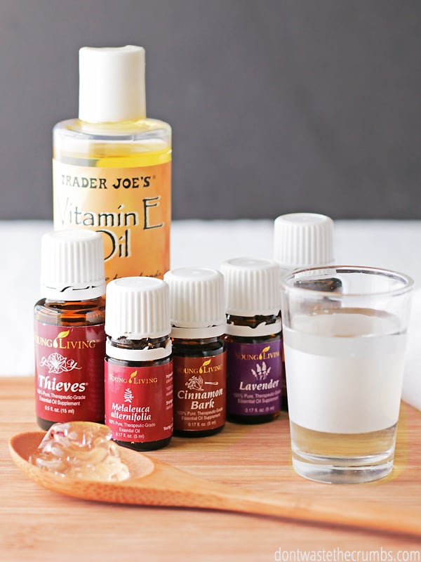 Homemade hand sanitizer recipe using vodka, witch hazel, rubbing alcohol and/or essential oils. The easiest way to make homemade hand sanitizer out there!