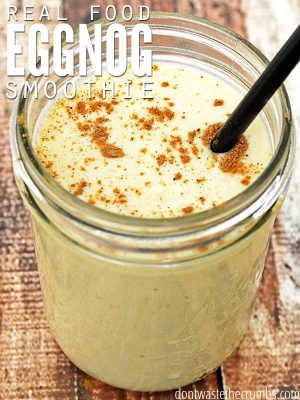 Recipe:  Eggnog Smoothie