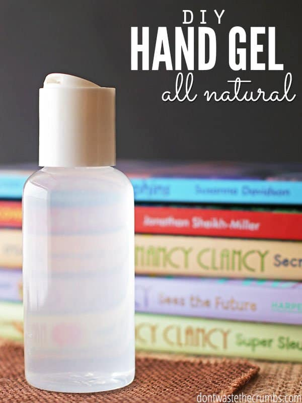 I refuse to buy hand sanitizer! Not only do we avoid triclosan, but making homemade hand sanitizer is easy and all-natural. This recipe is a mix/match of what you have on hand, and it's ready in under a minute! Plus the essential oils smell good AND keep the germs away! Perfect for children at school. :: DontWastetheCrumbs.com