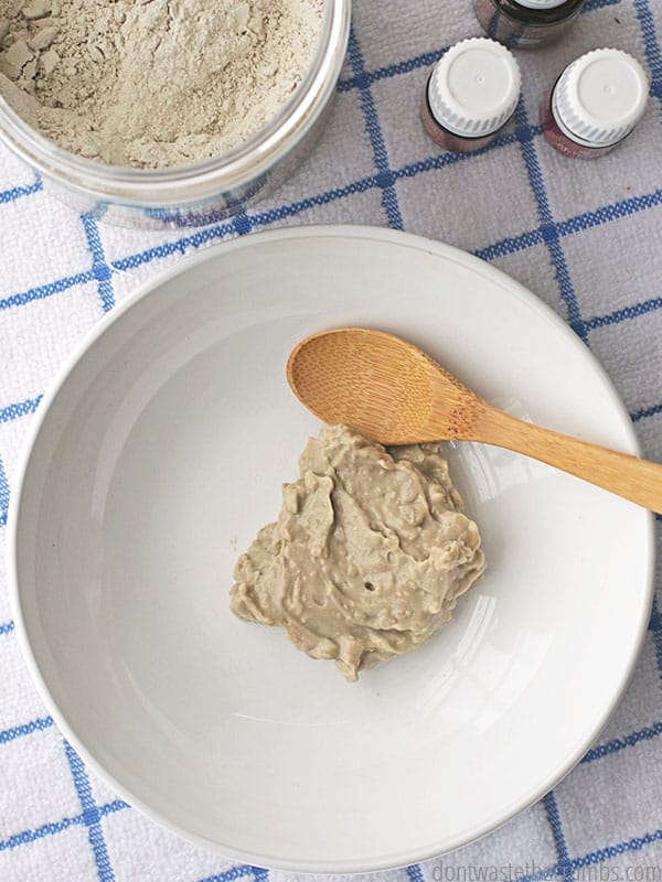My favorite flavor of homemade toothpaste is this cinnmaon remineralizing toothpaste. The clay combined with essential oils is a powerhouse for our dental health, and it works better than traditional toothpaste! :: DontWastetheCrumbs.com