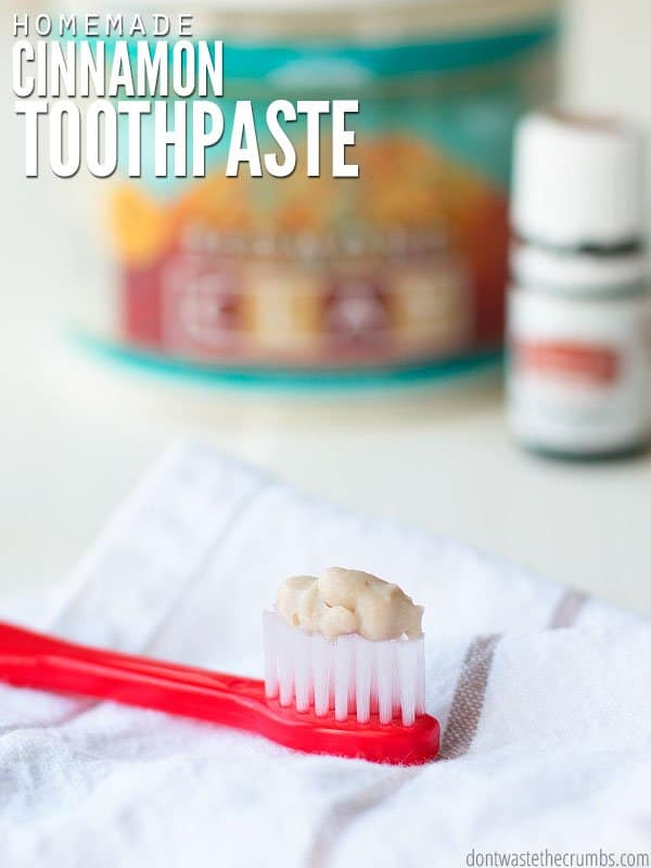 This remineralizing toothpaste recipe uses bentonite clay to heal cavities. It's the best natural toothpaste we've ever tried, and our dentist agrees! Our before and afters are astounding - no one in the family has had cavities! :: DontWastetheCrumbs.com