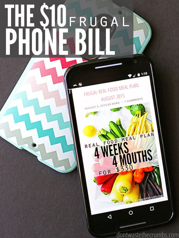 We switched from Verizon to Republic Wireless, upgraded to a Moto X and got our phone bill down to just $10/month. Would you save if you switched too? Simple breakdown of the numbers plus pros & cons in this super informative post on frugal cell phones! :: DontWastetheCrumbs.com