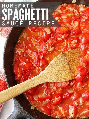 Homemade Spaghetti Sauce:  15 Minute Recipe