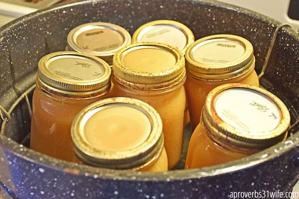 Canning applesauce is a great way to save money