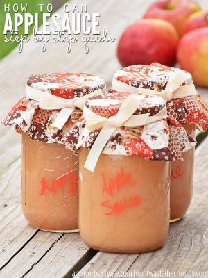 How to Can Applesauce (step by step tutorial)