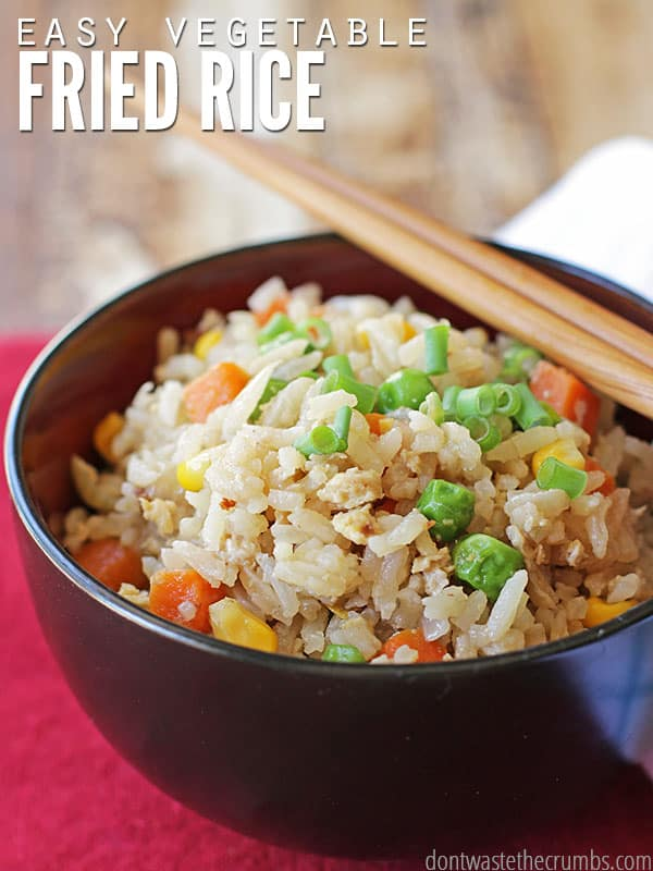 Vegetable fried rice quick and satisfying recipe easy and delicious vegetable fried rice that takes just a few minutes to make this ccuart Choice Image