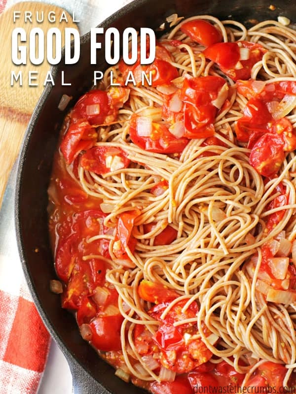 Good food meal plan on a budget, clean eating meals for a family of 4 for $330. Ideas for frugal meals, simple recipes & monthly meal plan on a budget. :: DontWastetheCrumbs.com
