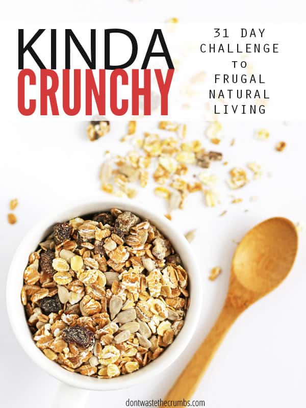 Do you want to make big changes to get healthy, but don't know where to begin? This 31 day challenge to frugal natural living is EXACTLY what you need. Daily challenges and encouragement via email, big goals broken down into small actionable steps so that you can finally achieve a healthier life - all within a budget! :: DontWastetheCrumbs.com