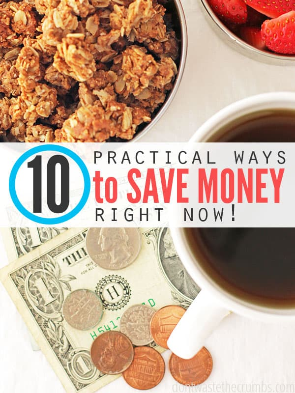 Money saving tips for saving money on groceries NOW. Many budget tips take awhile before you see the results. These money saving tips are practical ways to save money on groceries right now - it's savings you can actually see on the receipt, and save at the bank!. :: DontWastetheCrumbs.com