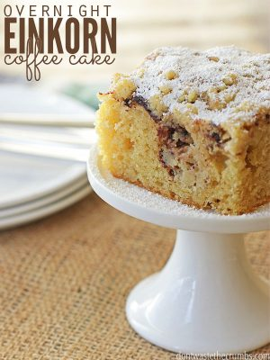 Overnight Kefir Coffee Cake Made with Einkorn Flour