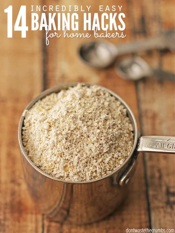 I love these awesome easy baking hacks - seriously, every home baker needs to read this post! It has substitutions for cake flour, substitutions for baking soda and baking powder and so much more. Print this one out and tape it to your pantry - it'll make the baking season easy and stress-free! :: DontWastetheCrumbs.com