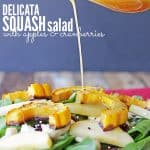 Squash Salad with Apples and Cranberries -Cover