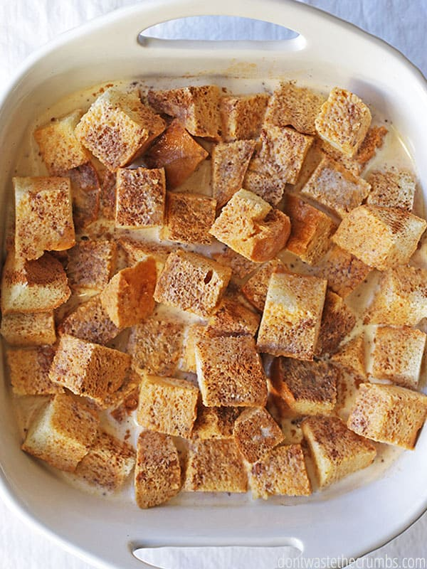 Pumpkin french toast bake tastes like pumpkin pie but makes for a delicious breakfast.