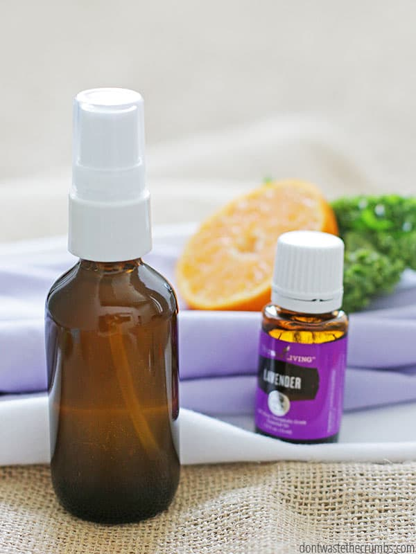 Learn how fun it is to make your own linen spray using your favorite essential oil scents. Lavender is my favorite! ::dontwastethecrumbs