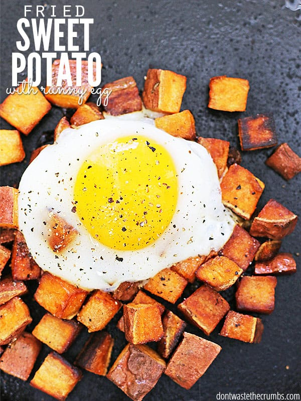 What can i make with eggs and sweet potatoes