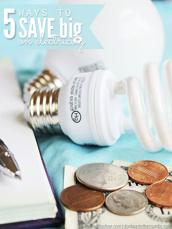 When unplugging isn't enough, these 5 tips to save money on electricity will do the trick. Out of the box, creative thinking to keep your electric bills low year round so you can save your hard earned money! (PS - One tip saved me $100 alone!):: DontWastetheCrumbs.com