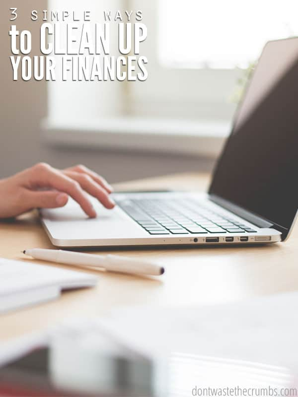 Three simple steps to get your finances under control today - it's timeless advice regardless of your financial situation, although perfect when you just can't wrap your head around what you're doing wrong, or as you're preparing for goal setting for the next year! :: DontWastetheCrumbs.com