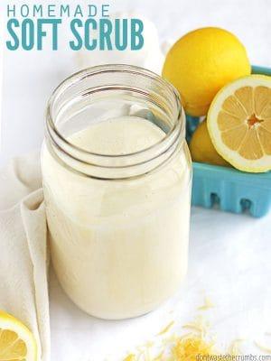 Bend Soap Milk Scrub (homemade soft scrub)