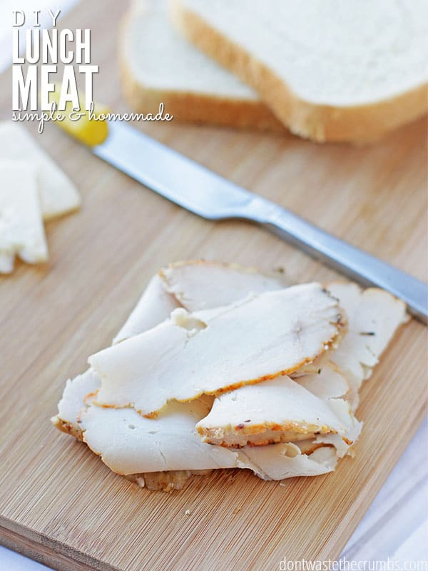 I quit eating lunch meat when I learned about nitrates, and then I learned the secret to making homemade lunch meat at home that was just as good and just as thin as those store-bought slices. We're now hooked on homemade lunch meat, and we're saving 78% over buying it from the store too! :: DontWastetheCrumbs.com