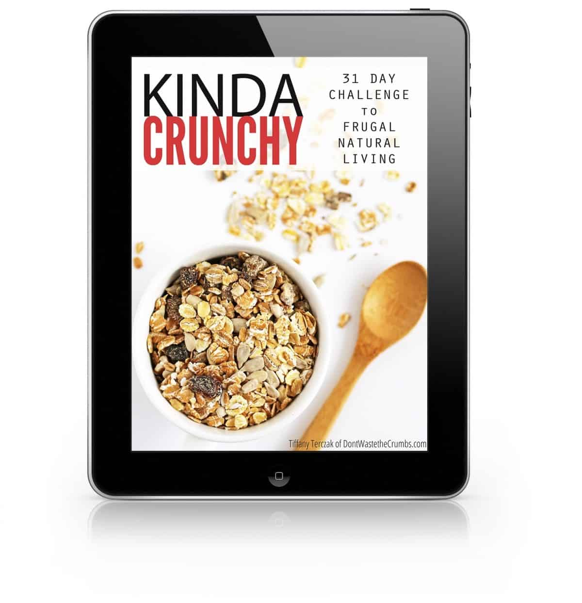 Kinda Crunchy Mockup on iPad_blank