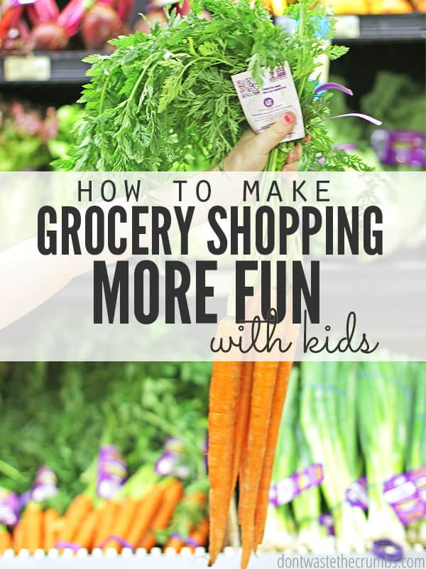 Parents have been there before - a grocery list that's a mile long and you seriously doubt you'll be able to get in and out of the grocery store without someone screaming or throwing something. Don't leave home without reading this! Great tips on making grocery shopping with kids more fun, with practical ideas for babies through elementary kids! :: DontWastetheCrumbs.com