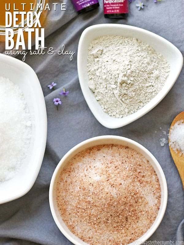 When life gets busy and stressful, I make this ultimate detox bath and in under an hour, I feel so much better! Give this detox bath a try for instantly smoother skin, and try it weekly to stay healthy and keep toxins out of your body. :: DontWastetheCrumbs.com