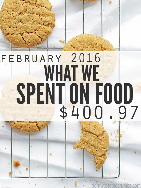 Food prices in greater Atlanta, GA and what a family of four spent on groceries for January 2016. Think you spend too much on groceries? These guys spend only $330 each month - and it's clean eating, real food. No junk allowed! :: DontWastetheCrumbs.com