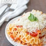 Slow Cooker Meatless Lasagna Cover