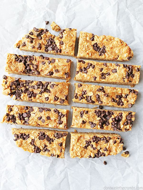 My whole family LOVES these soft and chewy peanut butter chocolate chip granola bars. They are SO much better than store-bought and so much healthier too! I love that they only have 7 ingredients and I always have everything in the pantry too. They're no-bake granola bars ready in just 30 minutes for the same price as unhealthy store-bought granola bars. You can't go wrong! :: DontWastetheCrumbs.com