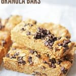 Soft and Chewy Peanut Butter Chocolate Chip Granola Bars Cover