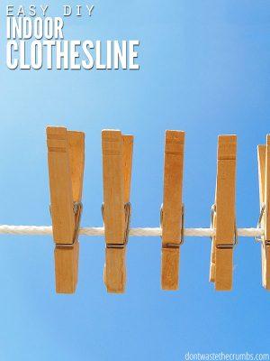 How to Make an Indoor Clothesline