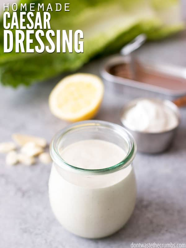 My kids were over the moon when they tried this homemade Caesar salad dressing! It's officially my kids' favorite and with a slight trick, I've created the best homemade Caesar dressing recipe and a no-fail way to make it. Plus it costs less than store-bought too!