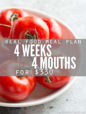 Frugal Real Food Meal Plan: July 2016