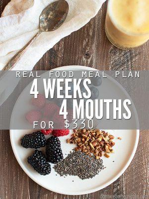 Frugal Real Food Meal Plan: June 2016
