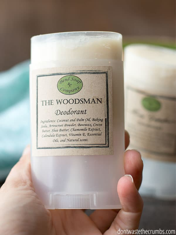 One of the highlights of our natural deodorant review was that one stick was baking soda free. Great for those who have reactions to baking soda in natural deodorant! :: DontWastetheCrumbs.com