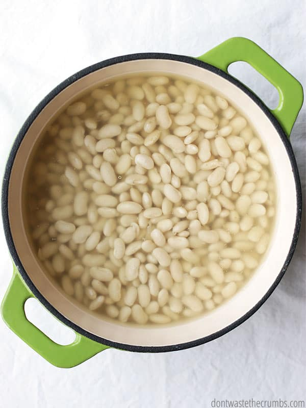 If I had known making slow cooker beans was so easy, I would have tried it much sooner. They come out perfectly done every time, and it's so nice not to have to be home over a hot stove! :: DontWastetheCrumbs.com