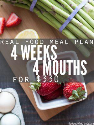 Frugal Real Food Meal Plan: August 2016
